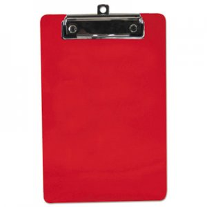 "Saunders SAU00518 Plastic Clipboard, 1/2"" Capacity, 6 x 9 Sheets, Red"