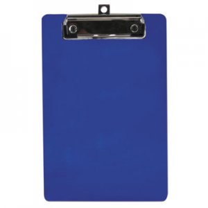 "Saunders SAU00515 Plastic Clipboard, 1/2"" Capacity, 6 x 9 Sheets, Blue"