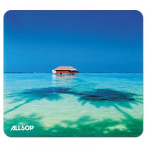 Allsop ASP31625 Naturesmart Mouse Pad, Tropical Maldives, 8 1/2 x 8 x 1/10