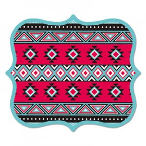 Fellowes FEL5919101 Designer Mouse Pads, Tribal Print, 9 x 8 x 3/16