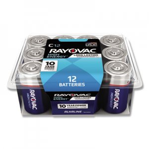 Rayovac RAY81412PPK High Energy Premium Alkaline Battery,C, 12/Pack