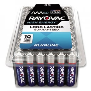 Rayovac RAY82460PPK Alkaline Battery, AAA, 60/Pack