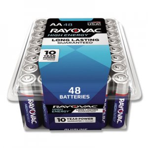 Rayovac RAY81548PPK Alkaline Battery, AA, 48/Pack