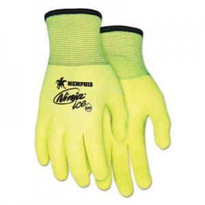 MCR Safety CRWN9690HVXL Ninja Ice Gloves, X-Large, High Vis Lime, 1 Dozen