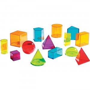 Learning Resources LER4331 View Thru Geometric Solids Set LRNLER4331
