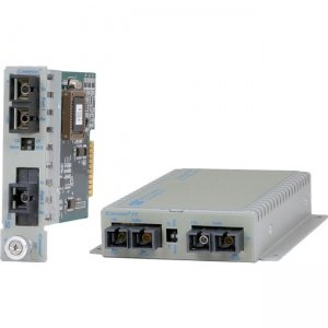 Omnitron Systems 8622-61 100BASE-FX Single-Mode to Multimode Managed Fiber Converter