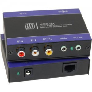 SmartAVI HDC-VX-RXS Video/Audio/IR CAT5 Point-to-Point Receiver