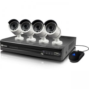 Swann SWNVK-874004-US NVR8-7400 8 Channel 4MP Network Video Recorder & 4 x NHD-818 4MP Cameras