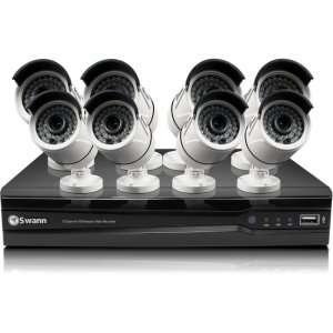 Swann SWNVK-874008-US NVR8-7400 8 Channel 4MP Network Video Recorder & 8 x NHD-818 4MP Cameras