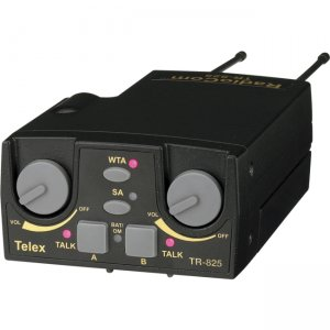 Telex TR-825-B4 UHF Two-Channel Binaural Wireless Beltpack TR-825