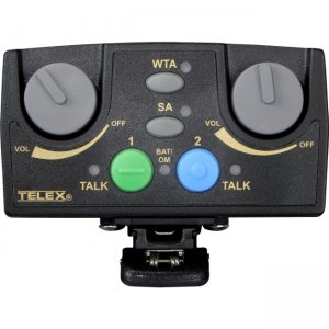 Telex TR-82N-F2R Narrow Band UHF Two-Channel Binaural Wireless Synthesized Portable Beltpack TR-82N
