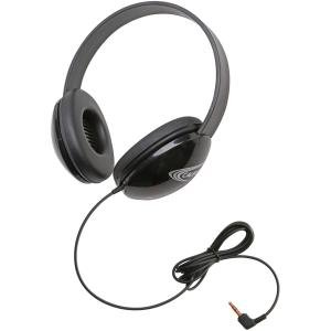 Califone 2800-BKP Listening First Childrens Lightweight Stereo Headphones Black