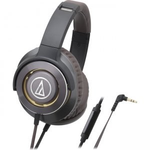Audio-Technica ATH-WS770ISGM Solid Bass Over-Ear Headphones with In-line Mic & Control