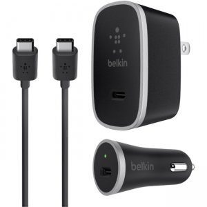 Belkin F7U016DQ05-BLK USB-C Charger Kit + Cable