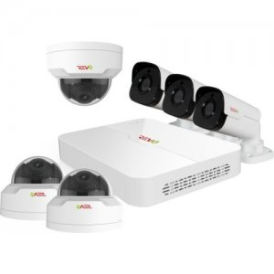 Revo RU82MD3GB3G-2T Ultra HD 8 Channel 2TB NVR Security System with 6 4MP Security Cameras