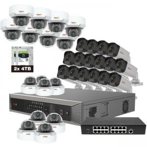 Revo RUP321MD16GB16G-8T Ultra Plus HD 32 Channel 8TB NVR Surveillance System with 32 4 Megapixel Cameras