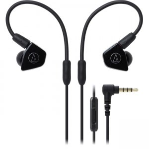 Audio-Technica ATH-LS50ISBK ATH-LS50iS In-Ear Headphones with In-line Mic & Control