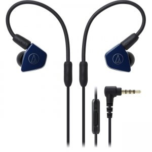 Audio-Technica ATH-LS50ISNV ATH-LS50iS In-Ear Headphones with In-line Mic & Control