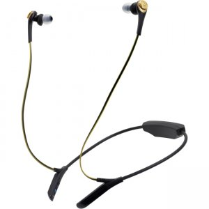 Audio-Technica ATH-CKS550BTBGD ATH-CKS550BT Solid Bass Wireless In-Ear Headphones with Mic & Control