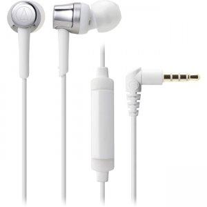 Audio-Technica ATH-CKR30ISSV ATH-CKR30iS SonicFuel In-Ear Headphones with In-line Mic & Control