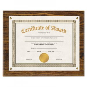 "Genpak UNV76826 Award Plaque, 13 1/3"" x 11"", Walnut"