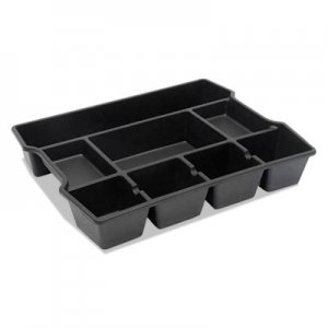 Genpak UNV20120 High Capacity Drawer Organizer, 14 7/8 x 11 7/8 x 2 1/2, Plastic, Black