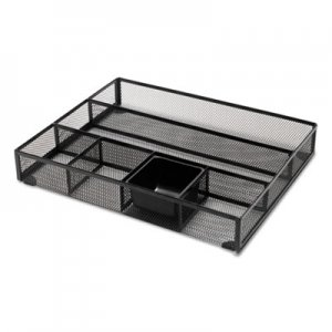 Genpak UNV20021 Metal Mesh Drawer Organizer, 15 x 11 7/8 x 2 1/2, Black