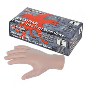 MCR Safety MPG5010LCT Disposable Vinyl Gloves 5010XL, Clear, Large, 1000/Carton