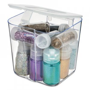 deflecto DEF29101CR Stackable Caddy Organizer Containers, Small, Clear