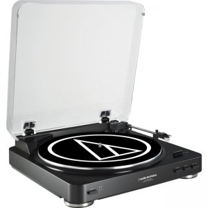Audio-Technica AT-LP60BK-USB Fully Automatic Belt-Drive Stereo Turntable (USB & Analog)
