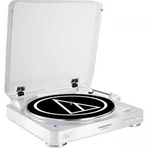 Audio-Technica AT-LP60WH-BT Fully Automatic Wireless Belt-Drive Stereo Turntable