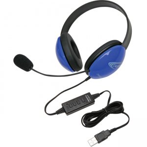 Califone 2800BL-USB USB Stereo Headphones Listening First Series Blue