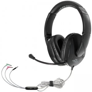 Hamilton Buhl T18LG3EBK Trios Multimedia Headset w/ Steel Reinforced Flexible Mic, Black