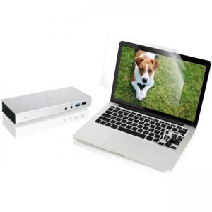 "Iogear GTD720GKSMP13KIT Thunderbolt 2 Docking Station with 13"" Macbook Pro Retina Protector Bundle"