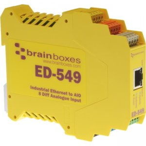 Brainboxes ED-549-X20M Ethernet to Analogue I/O X20 Multipack