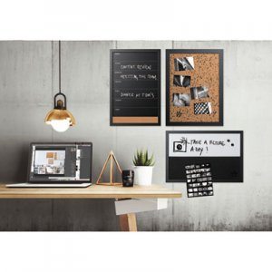 MasterVision BVCSOR033 Black & White Message Board Set, Assorted Sizes & Colors, 3/Set