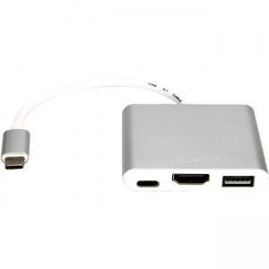 Rocstor Y10A176-S1 USB-C to HDMI Multiport Adapter - USB-C to HDMI/USB-C (3.1)/USB 3.0