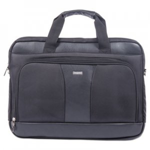 "STEBCO BUGEXB526 Gregory Executive Briefcase, 18"" x 9"" x 18"", Nylon/Synthetic Leather, Black"