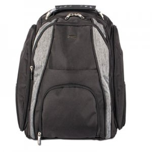"STEBCO BUGBKP113 Matt BackPack, 13"" x 4"" x 18"", Polyester, Black/Gray"