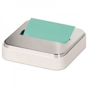 "Post-it Pop-up Notes Super Sticky MMMSTL330WH Steel Top Dispenser, 3"" x 3"", White/Steel"