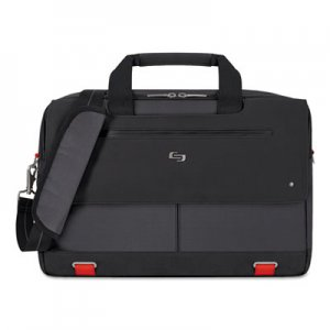 "Solo USLPRO3004 Mission Briefcase, 20"" x 6"" x 13"", Polyester, Black"