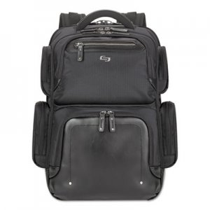 "Solo USLEXE7504 Lexington BackPack, 16.54"" x 4.33"" x 18.5"", Polyester, Black"