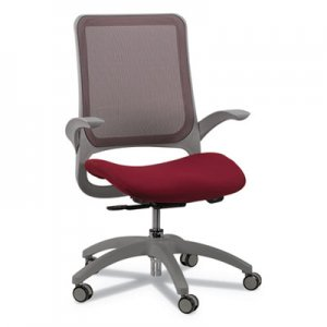 Eurotech EUTMF22BY Hawk Mesh-Back Chair, Supports up to 250 lbs., Burgundy Seat/Black Back, Black Base