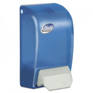 "Dial Professional DIA06056 1 Liter Manual Foaming Dispenser, 5"" x 4.5"" x 9"", Blue"