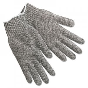 MCR Safety MPG9507LM String Knit Gloves, Gray Cotton/Polyester, Large