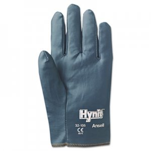 AnsellPro ANS321059 Hynit Nitrile-Impregnated Gloves, Size 9