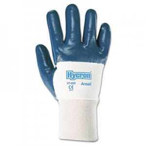 AnsellPro ANS2760010 Hycron Heavy-Duty Nitrile-Coated Gloves, Size 10
