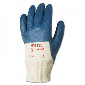 AnsellPro ANS4740010 Hylite Medium-Duty Multipurpose Gloves, Size 10, Cotton/Nitrile, BE/WE, 12 Pairs