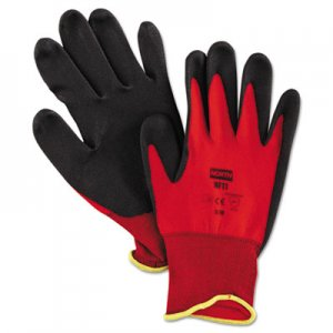 North Safety NSPNF118M NorthFlex Red Foamed PVC Palm Coated Gloves, Medium