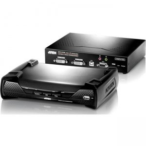 Aten KE6940KIT01 USB DVI-I Dual Display KVM Over IP Extender